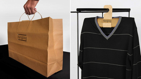 A Paper Shopping Bag That Transforms Into a Hanger Back Home | Strange days indeed... | Scoop.it