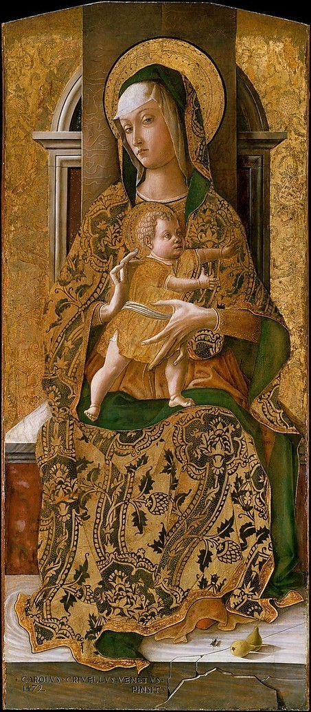 Madonna and Child Enthroned Carlo Crivelli at The Metropolitan Museum of Art | Le Marche another Italy | Scoop.it