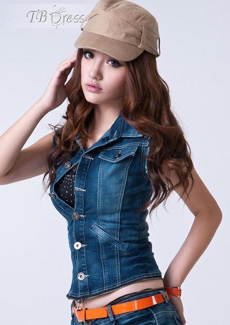 $ 24.99 Gorgeous Jacket  Low-waist Slim Jeans Jumpsuits | fashion | Scoop.it