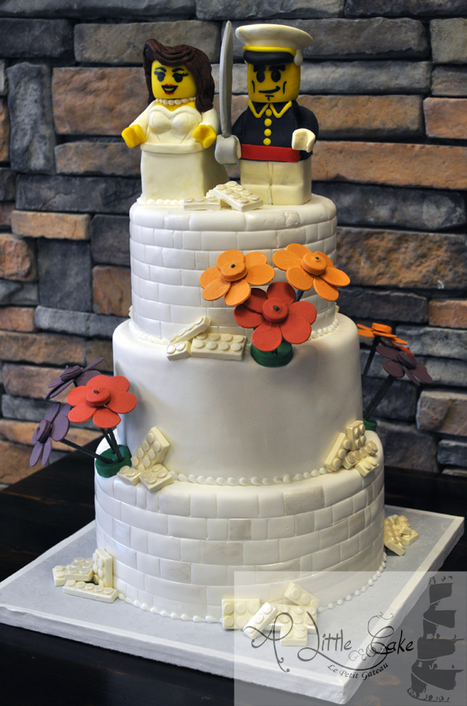 White Lego Wedding Cake | Custom Cakes for You | Scoop.it