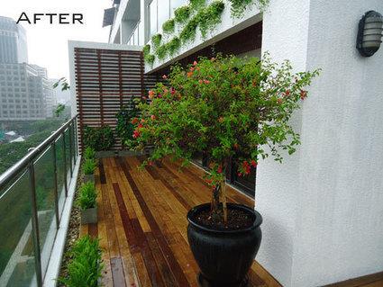 Balcony deck garden in bangkok thai garden design for Thai garden design pictures