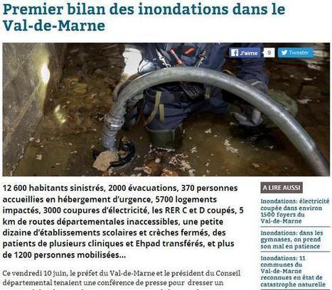 94.citoyens 13-06-2016 : Bilan des inondations en Val-de-Marne | CGMA Généalogie | Scoop.it