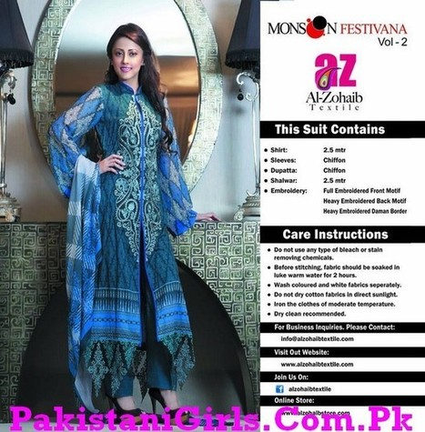 Al-Zohaib Textiles Launch Monsoon Festivana Eid Collection 2013 | Fashion and Beauty | Scoop.it