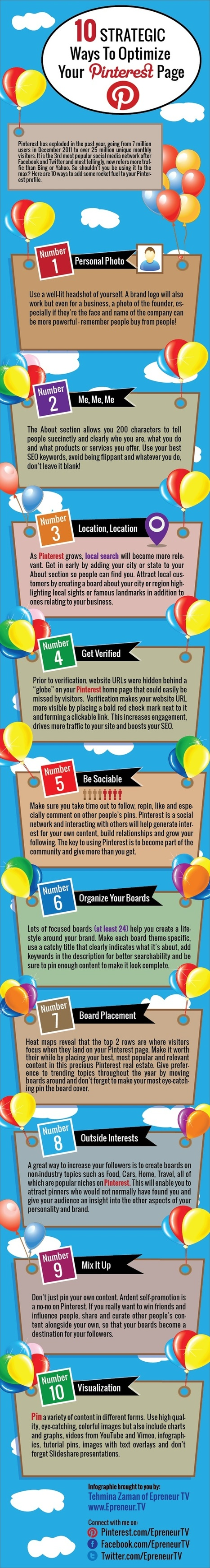 10 Strategic Ways To Optimize Your Pinterest Page   All about Web   Scoop.it