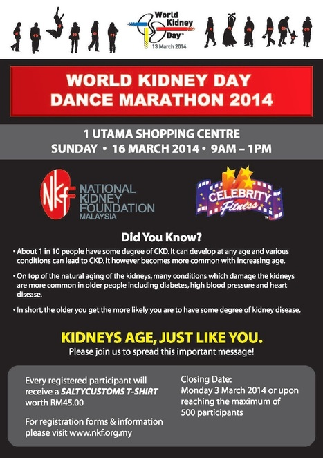 BandWidth Magazine: WORLD KIDNEY DAY 2014; DANCE ... | World Kidney Day - Celebrations | Scoop.it