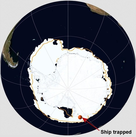 So much sea ice in Antarctica that a research vessel gets stuck, in ... | Polar Oceanography | Scoop.it