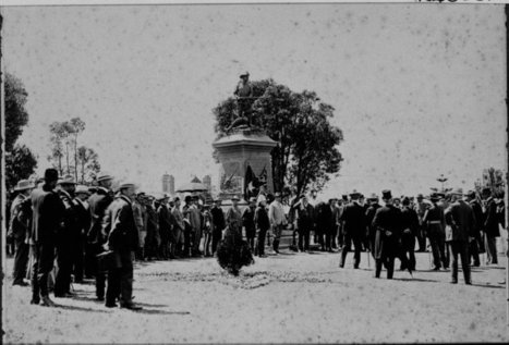 024660PD: First memorial service held in Kings Park at the Fallen Soldiers Memorial, 10.30am Sunday 25 December 1904 :: slwa_b2987203_1 | Kings Park History | Scoop.it