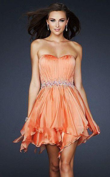 La Femme 17544 Orange A Line Prettily Textured Belted Dress Cheap [La Femme 17544 Orange] - $143.00 : La Femme Outlet, 60% Off La Femme Sale Online | gownprincess | Scoop.it