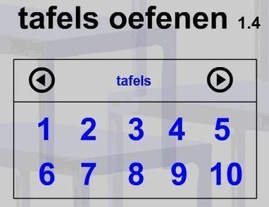 Tafels oefenen tafels oefenen en nog eens tafe for Www tafel oefenen nl