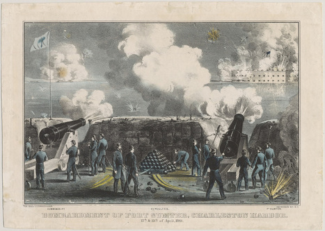 The Civil War in Art : Teaching & Learning Through Chicago Collections | Bombardment of Fort Sumter, Charleston Harbor | civil war | Scoop.it
