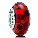 PANDORA Murano Red Bubbles Bead with Sterling Core [PZ267] - $3.50 | Cute Pandora Charms on bracelet-bead.com | Scoop.it
