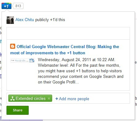 New Features for the Google +1 Button | Google+ and Social Networking | Scoop.it