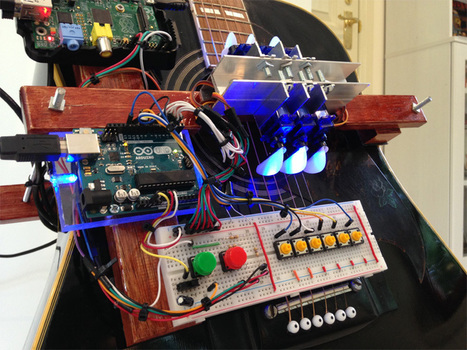 Robotic Player Guitar Rocks Out on Its Own | Arduino, Netduino, Rasperry Pi! | Scoop.it