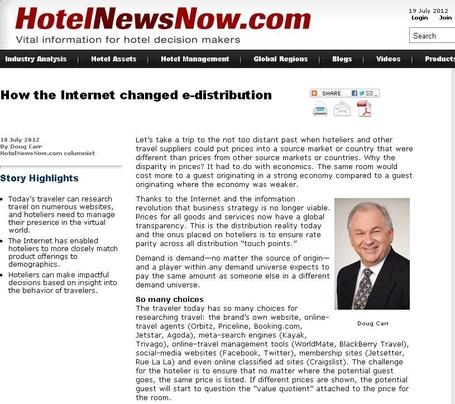 How the Internet changed e-distribution | Internet Hotel Marketing | Scoop.it