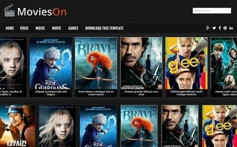 Free Movies On Blogger Template Responsive - Designsave.com | Blogger themes | Scoop.it