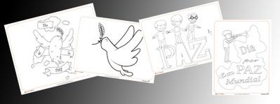 Día de la paz: Fichas de dibujos para pintar y colorear. Educapeques | DENIP | Scoop.it