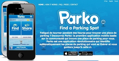 Parko, l'application pour trouver une place de parking | Mobile & Magasins | Scoop.it