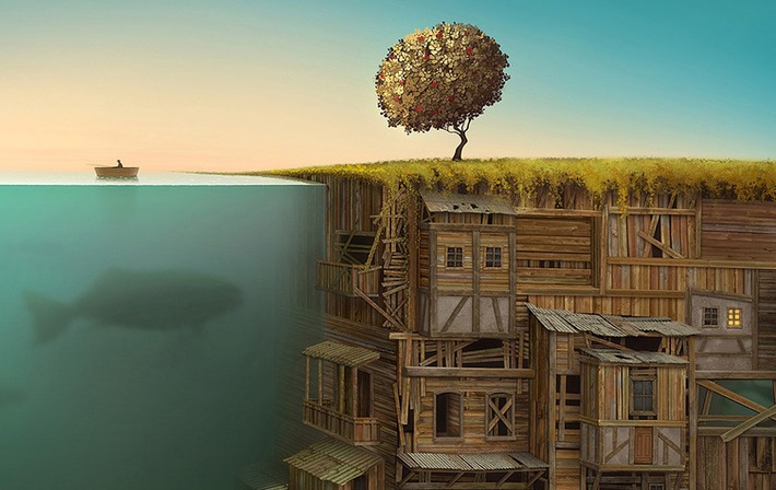Surreal Worlds Digitally Painted by Gediminas Pranckevicius | Machinimania | Scoop.it