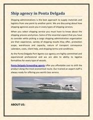 Ship agency in Ponta Delgada | shipping agency | Scoop.it