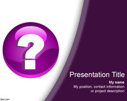 Free Question Mark PowerPoint Template | Free Powerpoint Templates | engage your readers | Scoop.it