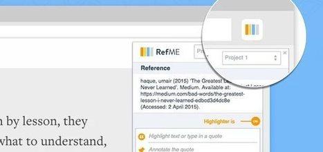 refme, para crear bibliografías de forma sencilla | Educacion, ecologia y TIC | Scoop.it