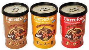 Carrefour signe des boissons auto-chauffantes / Epicerie / LES PRODUITS - LINEAIRES, le mensuel de la distribution alimentaire | Innovation des produits de grande consommation | Scoop.it