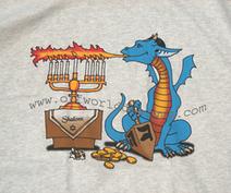 Menorah Dragon T-Shirt | Gamer Shirts | Scoop.it
