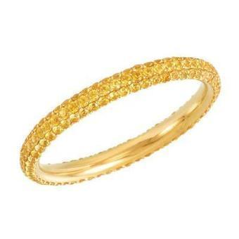 Stackable Yellow Sapphire Eternity Band | Diamond Band | Scoop.it