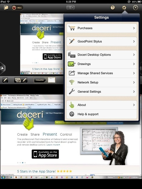 App Review: Doceri Combines Screencasting, Desktop Control, Whiteboard | Faculty Focus | Liberating Learning with Web 2.0 | Scoop.it