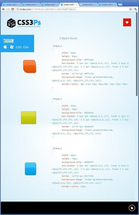 CSS3PS, PSD 2 CSS3 ! | tANkRed | Scoop.it