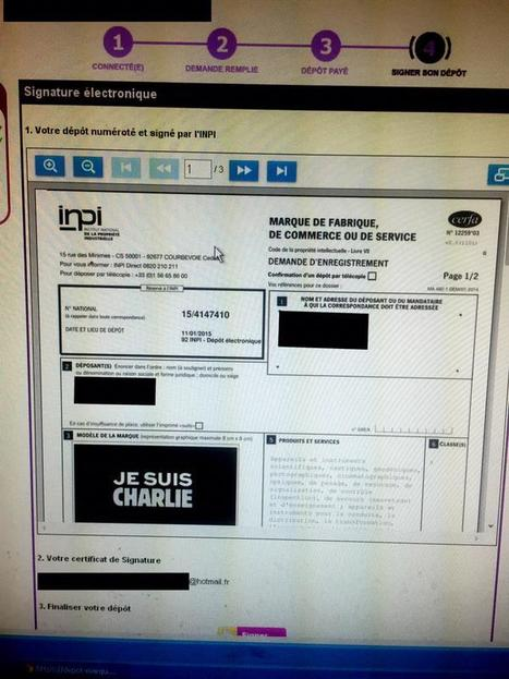 """""""Je suis Charlie"""": l'INPI refuse le dépôt de la marque   PuB   Scoop.it"""