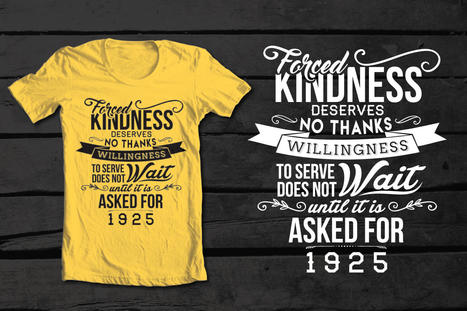 Typography T-Shirt Design and Layout | LogicGateOne Corp. | Scoop.it