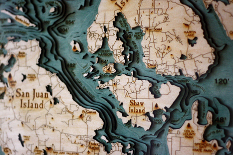 Below the Boat: Underwater Topo Maps Made of Wood | #OntologíasdeloCartográfico | Scoop.it