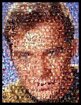 Amazing Captain Kirk Star Trek Mosaic Art Print   Star Trek International   Scoop.it