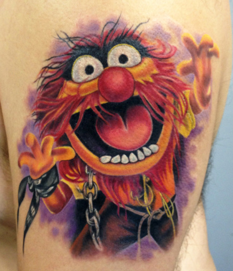 Animal from the Muppets. Tattoo by Mindy Stewart at Olde Tyme... | Tattooed | Scoop.it