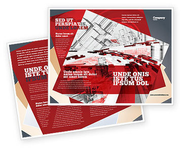 Abstract City Collapse Brochure Template | Brochure Templates | Scoop.it