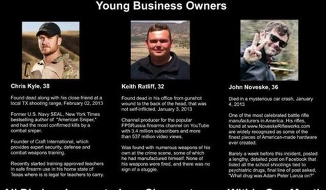 Conspiracy?Chris Kyle The Third High Profile Firearms Business Owner Killed in Past Month, Along With 30 SEALs The Past Four Years « Pat Dollard | Littlebytesnews Current Events | Scoop.it