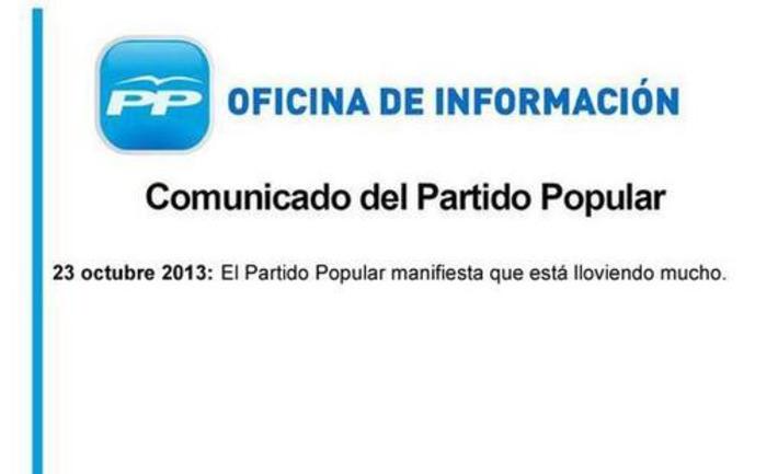 Twitter / Els_quatre_gats: Comunicado del Partido Popular ... | Partido Popular, una visión crítica | Scoop.it