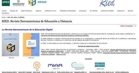 CUED: La RIED entre las revistas españolas con Sello de Calidad de FECYT | Educación a Distancia y TIC | Scoop.it