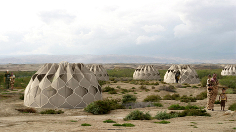 abeer seikaly weaves shelters for disaster relief using patterned fabric | BioArchitecture | Scoop.it