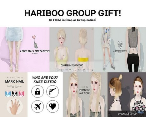Eight Tattoos Group Gifts by HARIBOO | Teleport Hub - Second Life Freebies | Second Life Freebies | Scoop.it