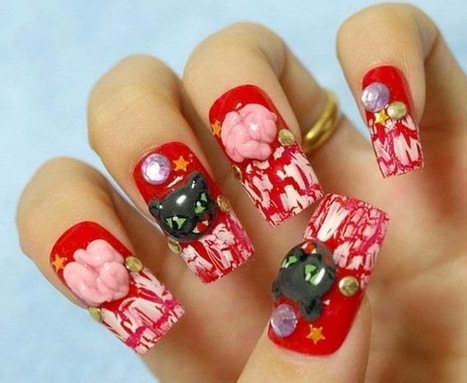 30 Fanciful Ideas & Designs For Halloween Nail Art | FashionWTF | Nail Art | Scoop.it