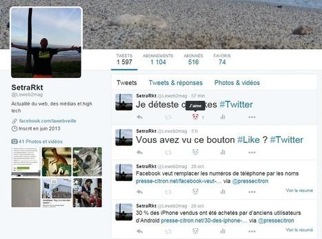 [Astuce] Comment cacher le bouton Like de Twitter | Social Media Curation par Mon-Habitat-Web.com | Scoop.it
