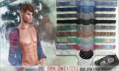 Moda no SL: bleak .The Bum Sweater -Blue Jean(FREE) | Second LIfe Good Stuff | Scoop.it