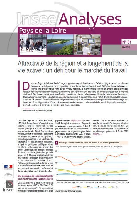 Insee > Attractivité de la région et allongement de la vie active: un défi pour le marché du travail | Observer les Pays de la Loire | Scoop.it