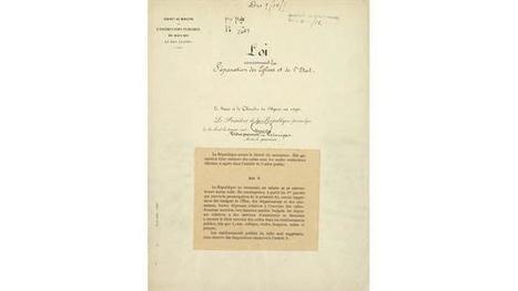 9 décembre 1905, naissance de la laïcité à la française   Education et laïcité   Scoop.it