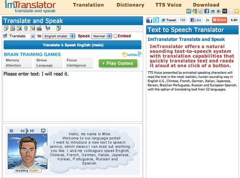 Translate and Speak | singing leads to learning | Scoop.it