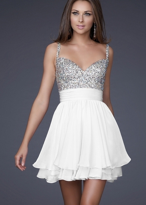 Short White Sparkly Top Prom Dresses 2014 [short white prom dresses] - $160.00 : Cheap Prom Dresses 2014,Cheap Dresses For Prom 2014,Formal Prom Dresses On Sale | Sexy | Scoop.it
