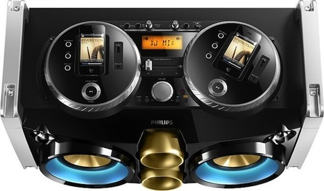 Philips' Mini Hi-Fi System lets you dock iPhones, spins them into turntables | New inventions | Scoop.it
