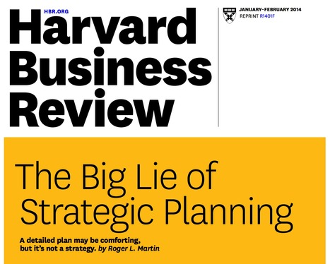 The Big Lie of Strategic Planning | Food for thought | Scoop.it